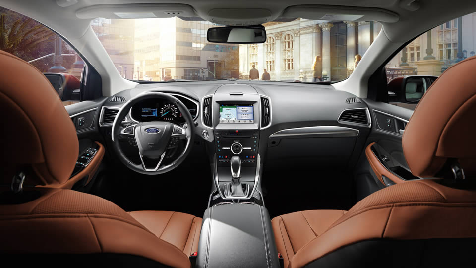 adorable-design-of-the-brown-leather-seats-ideas-with-black-dash-and-black-steering-wheel-as-the-ford-edge-2016-interior