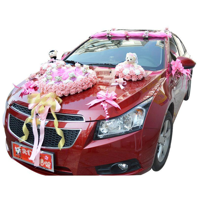 adorable-design-of-the-cartoon-wedding-car-with-decoration-as-the-car-decoration-for-wedding