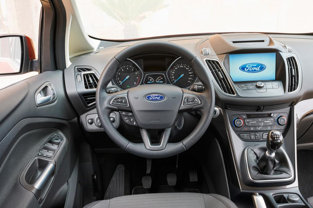 adorable-design-of-the-grey-seats-added-with-black-dash-added-with-black-steer-ideas-as-the-ford-c-max-2015-interior