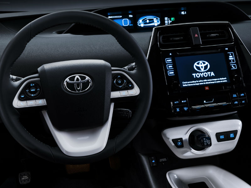 adorable-design-of-the-white-and-black-steering-wheels-added-with-black-dash-and-white-dash-as-the-toyota-prius-2016-interior