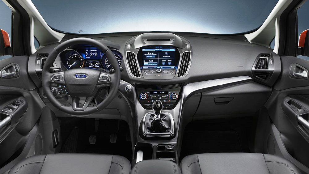 amusing-design-of-the-black-and-silver-accents-dash-ideas-with-grey-seats-ideas-as-the-ford-c-max-2015-interior