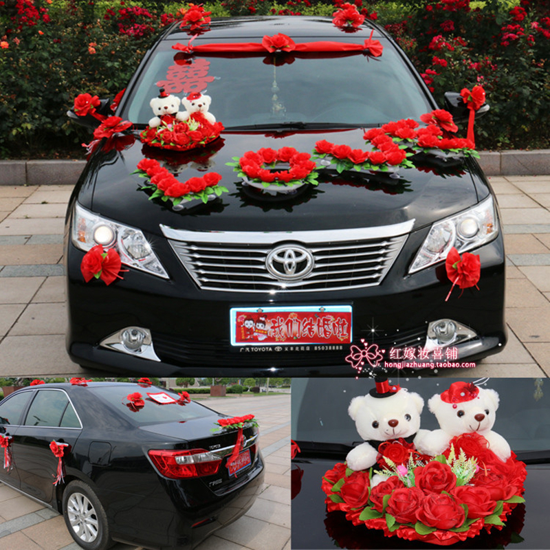 amusing-design-of-the-car-flower-design-decoration-kit-korean-car-decoration-car-decoration-for-wedding-ideas