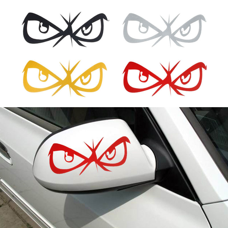 amusing-design-of-the-white-cars-added-with-eyes-car-decoration-stickers-ideas-for-the-cars