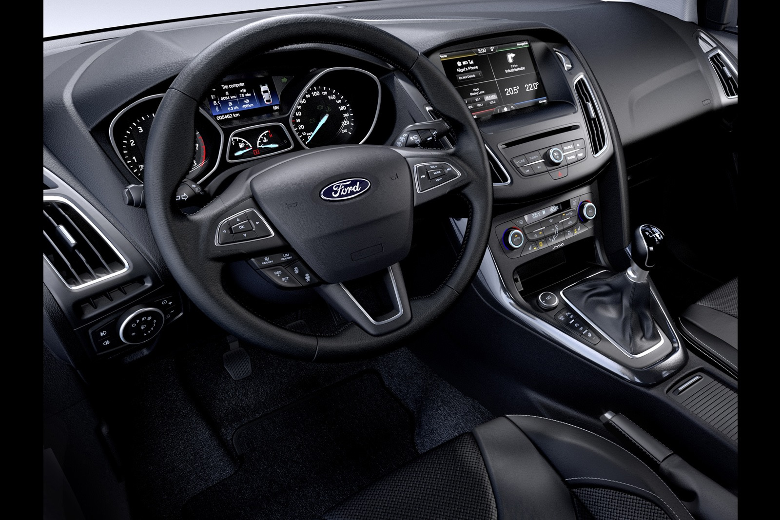 astonishing-design-of-the-black-dash-ideas-added-with-black-steering-wheels-as-the-ford-focus-facelift-2015-interior