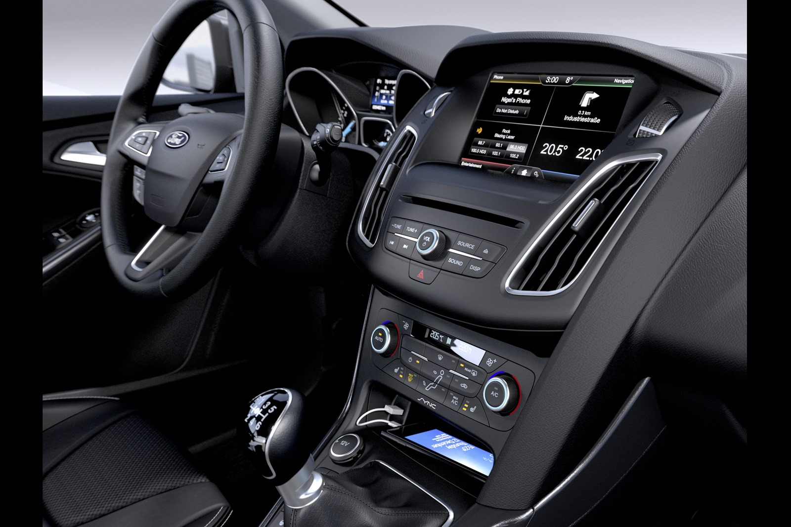 astounding-design-of-the-black-dash-ideas-with-black-steering-wheels-with-silver-accents-as-the-ford-focus-facelift-2015-interior