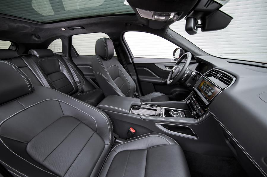 astounding-design-of-the-black-leather-seats-added-with-black-dash-and-black-steering-wheel-as-the-jaguar-f-pace-2016-interior