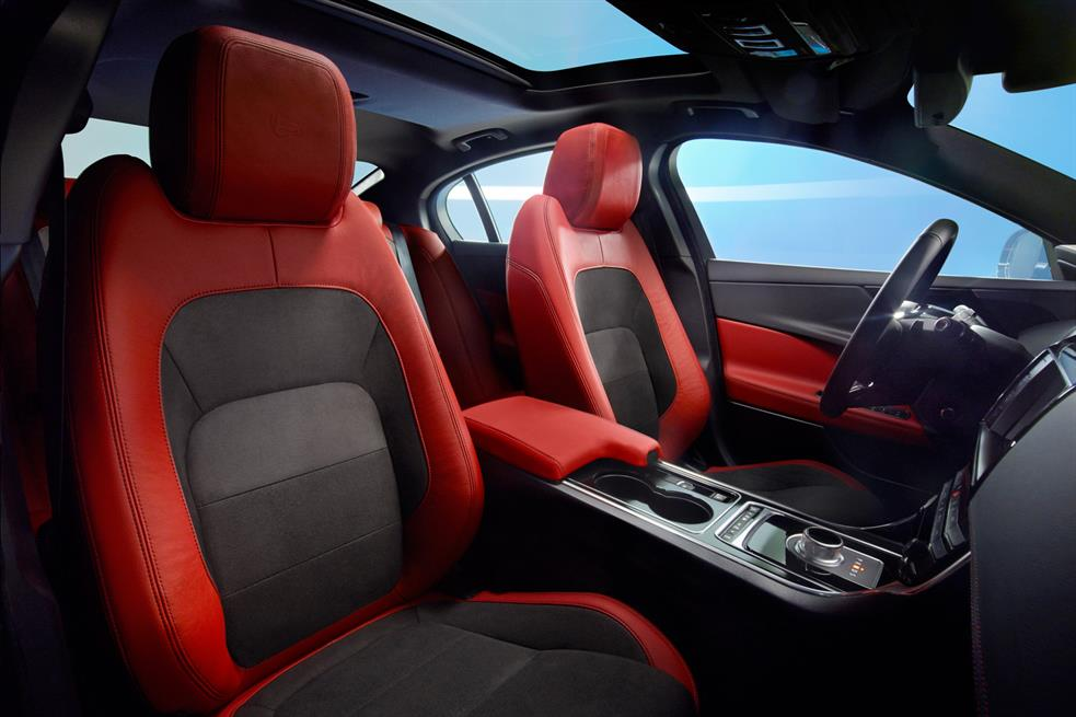 astounding-design-of-the-red-and-black-seats-ideas-with-red-accents-as-the-jaguar-xe-2015-interior-ideas
