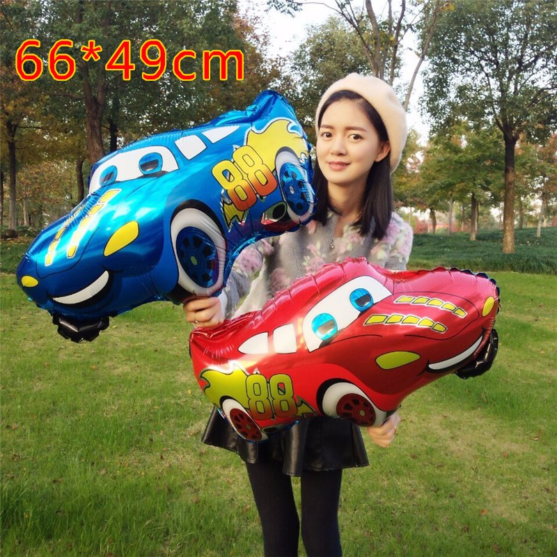 awesome-design-of-the-red-and-blue-car-ballon-as-the-car-decoration-for-birthday-ideas