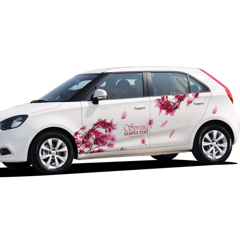beauty-design-of-the-white-cars-added-with-floral-car-decoration-stickers-ideas