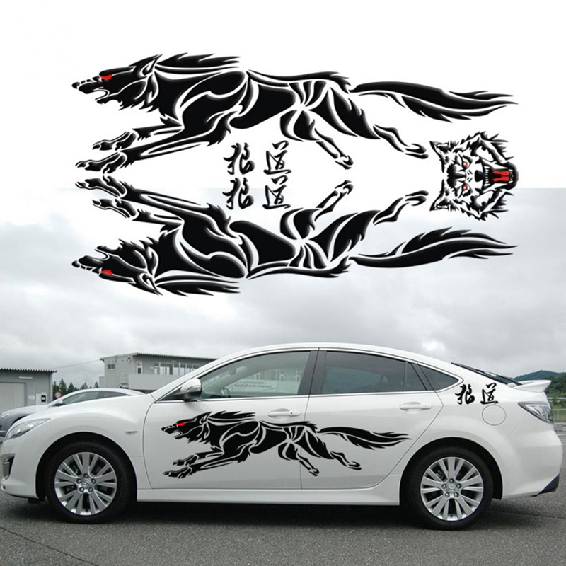 marvelous-design-of-the-black-wolf-totem-sticker-ideas-as-the-car-decoration-stickers-ideas