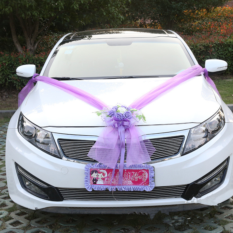 stunning-design-of-the-white-car-as-the-car-for-wedding-ideas-with-prupel-decoration-as-the-car-decoration-for-wedding