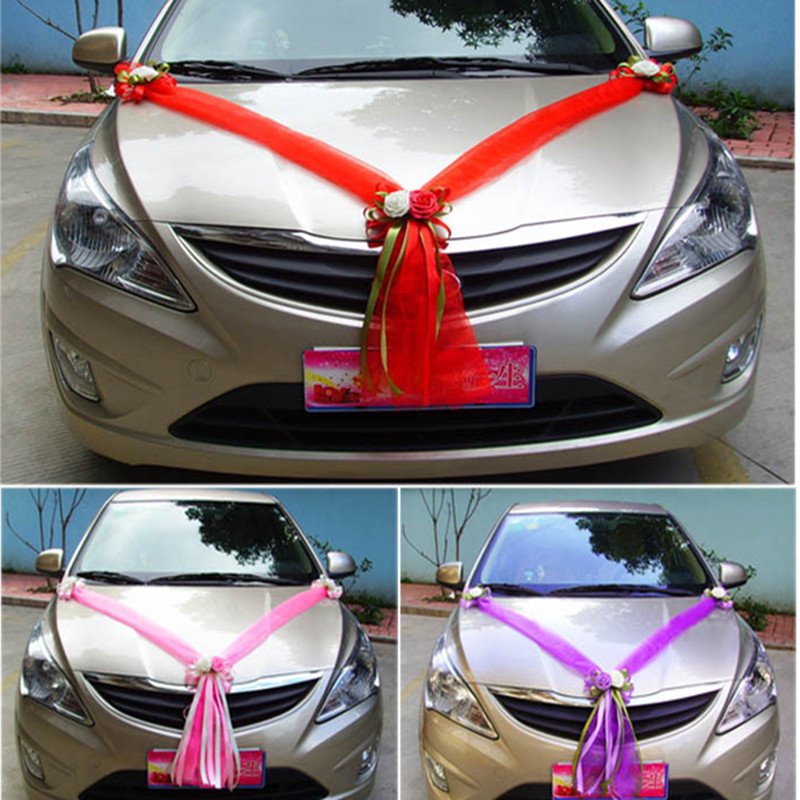 amazing-design-of-the-car-decoration-for-wedding-with-red-and-purple-and-pink-color-ideas